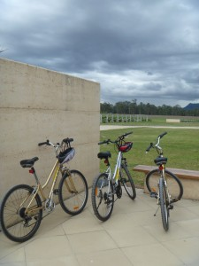 Bikes resting at Margan