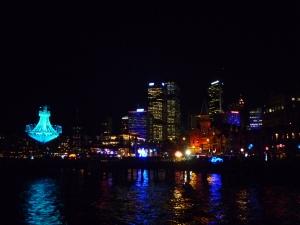 Sydney lit up